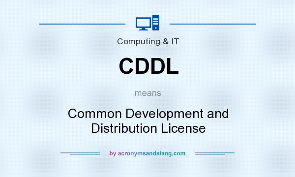 What does CDDL mean? It stands for Common Development and Distribution License