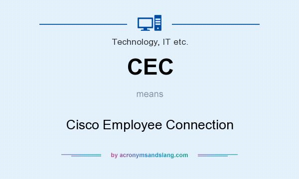 What does CEC mean? It stands for Cisco Employee Connection