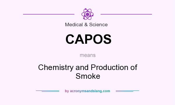 What does CAPOS mean? It stands for Chemistry and Production of Smoke