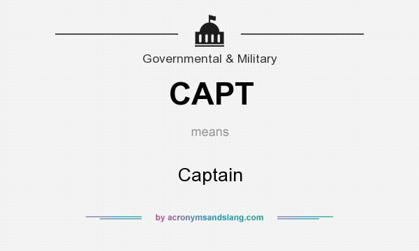 What does CAPT mean? It stands for Captain