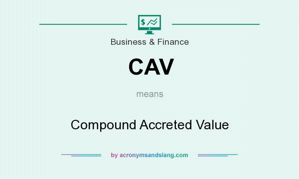 What does CAV mean? It stands for Compound Accreted Value
