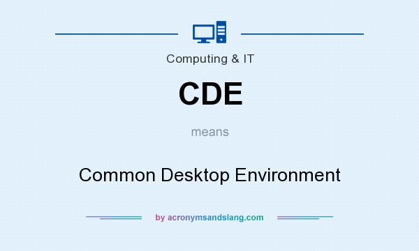 What does CDE mean? It stands for Common Desktop Environment