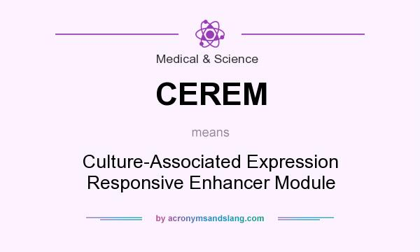 What does CEREM mean? It stands for Culture-Associated Expression Responsive Enhancer Module