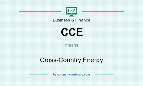 What does CCE mean? It stands for Cross-Country Energy