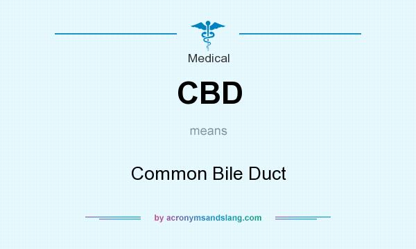 What does CBD mean? It stands for Common Bile Duct