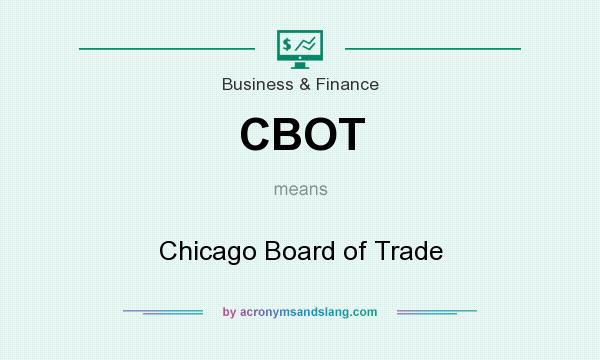 What does CBOT mean? It stands for Chicago Board of Trade