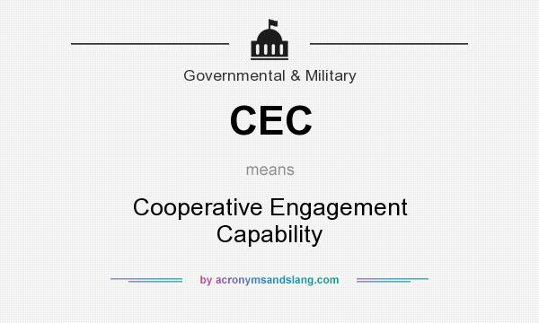 What does CEC mean? It stands for Cooperative Engagement Capability