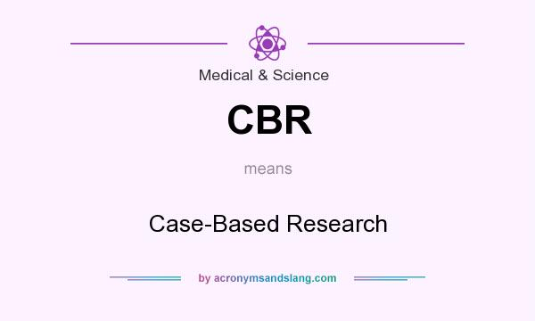 What does CBR mean? It stands for Case-Based Research