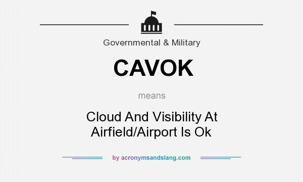 What does CAVOK mean? It stands for Cloud And Visibility At Airfield/Airport Is Ok