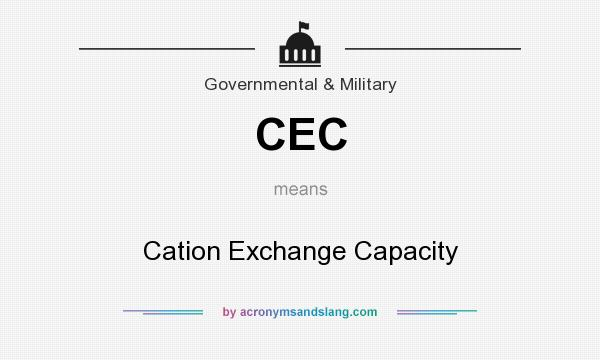 What does CEC mean? It stands for Cation Exchange Capacity
