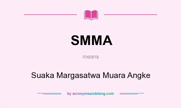 What does SMMA mean? It stands for Suaka Margasatwa Muara Angke