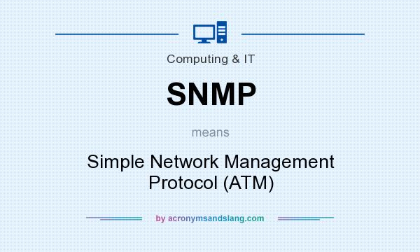 What does SNMP mean? It stands for Simple Network Management Protocol (ATM)