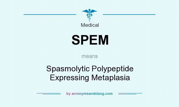 Spem Spasmolytic Polypeptide Expressing Metaplasia In Medical By