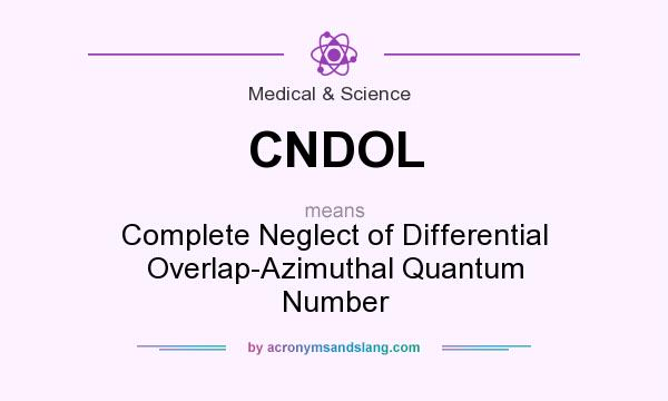 What does CNDOL mean? It stands for Complete Neglect of Differential Overlap-Azimuthal Quantum Number