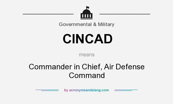 What does CINCAD mean? It stands for Commander in Chief, Air Defense Command