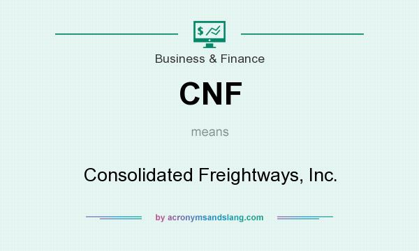 Cnf Consolidated Freightways Inc By Acronymsandslang Com