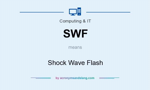 What does SWF mean? It stands for Shock Wave Flash