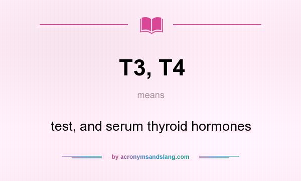 T3, T4 - test, and serum thyroid hormones in Undefined by