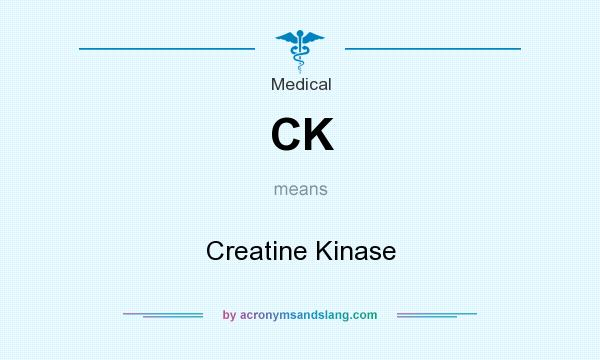 What does CK mean? It stands for Creatine Kinase