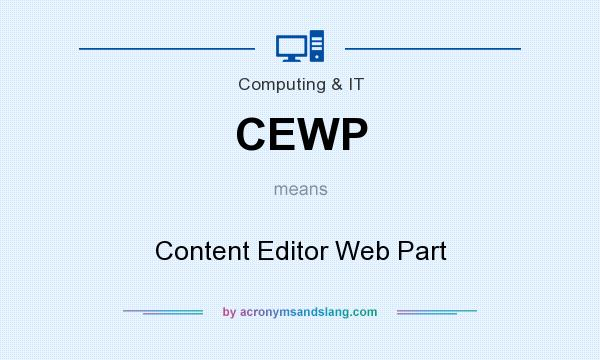 What does CEWP mean? It stands for Content Editor Web Part
