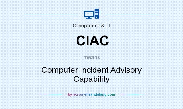 What does CIAC mean? It stands for Computer Incident Advisory Capability