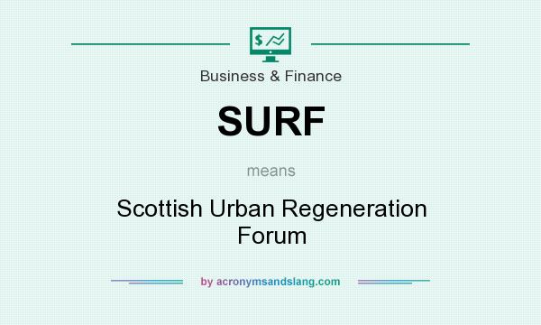 What does SURF mean? It stands for Scottish Urban Regeneration Forum