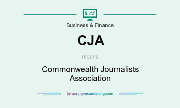 What does CJA mean? It stands for Commonwealth Journalists Association