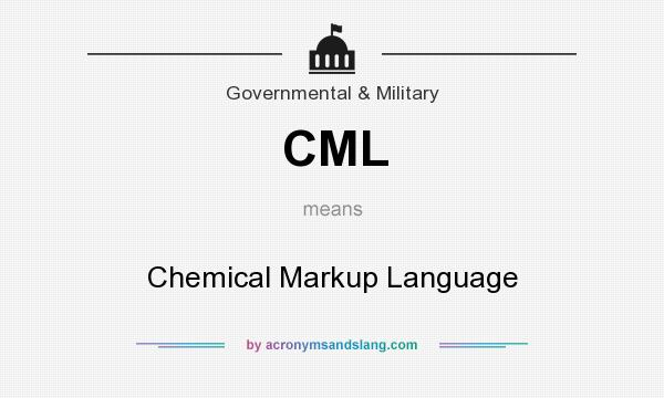 What does CML mean? It stands for Chemical Markup Language