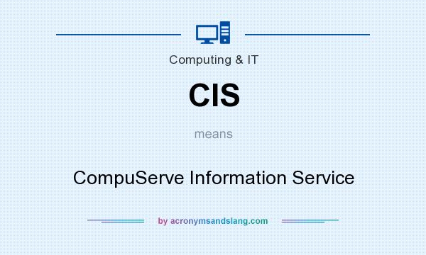 What does CIS mean? It stands for CompuServe Information Service