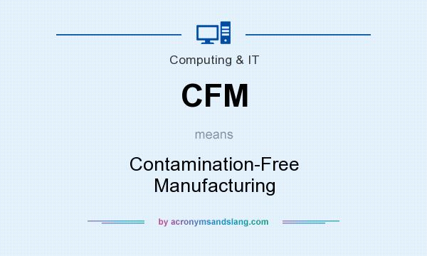 What Is Cfm >> Cfm Contamination Free Manufacturing In Computing It By