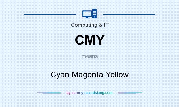 What does CMY mean? It stands for Cyan-Magenta-Yellow