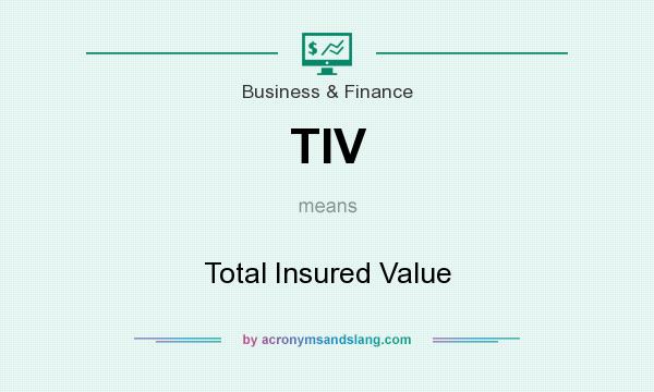 What does TIV mean? It stands for Total Insured Value