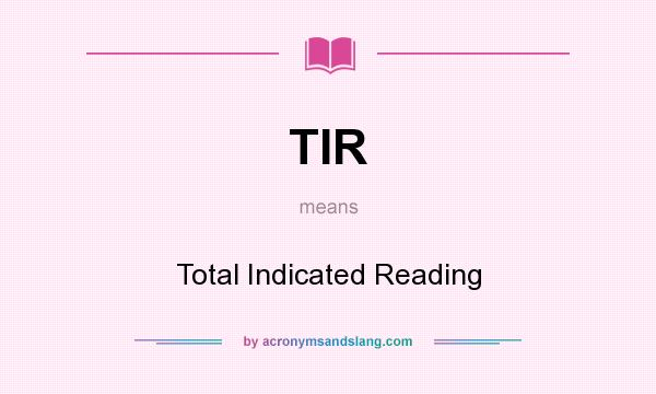how to get total indicator reading