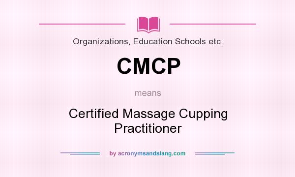 CMCP - Certified Massage Cupping Practitioner in Organizations ...