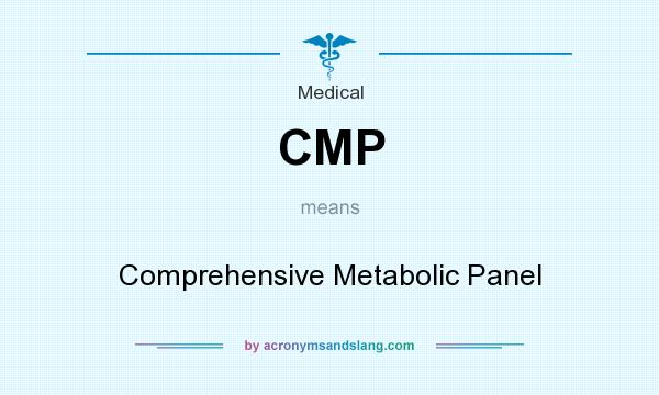 What does CMP mean? It stands for Comprehensive Metabolic Panel