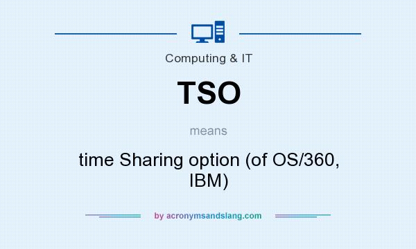 What does TSO mean? It stands for time Sharing option (of OS/360, IBM)