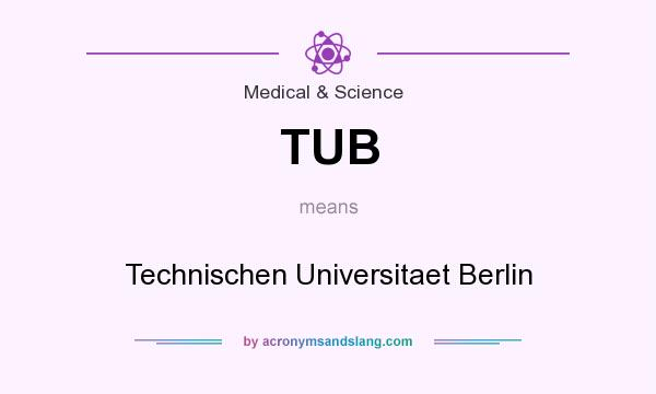 What does TUB mean? It stands for Technischen Universitaet Berlin
