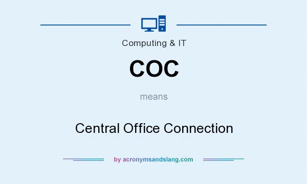 What does COC mean? It stands for Central Office Connection