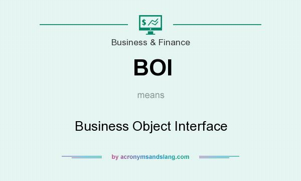 What does BOI mean? It stands for Business Object Interface