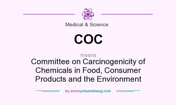 What does COC mean? It stands for Committee on Carcinogenicity of Chemicals in Food, Consumer Products and the Environment