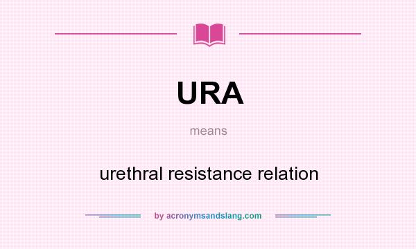 What does URA mean? It stands for urethral resistance relation