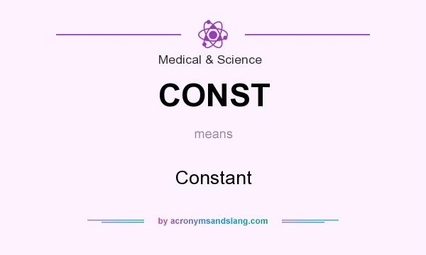 What does CONST mean? It stands for Constant