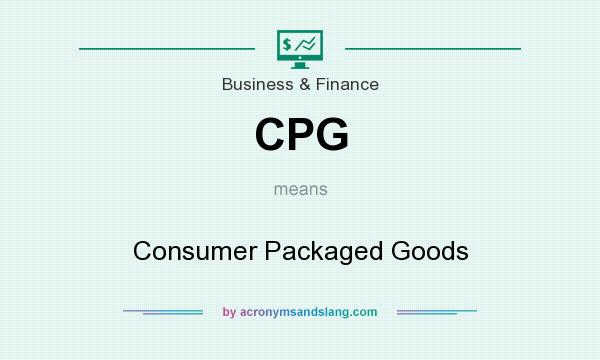 What does CPG mean? It stands for Consumer Packaged Goods