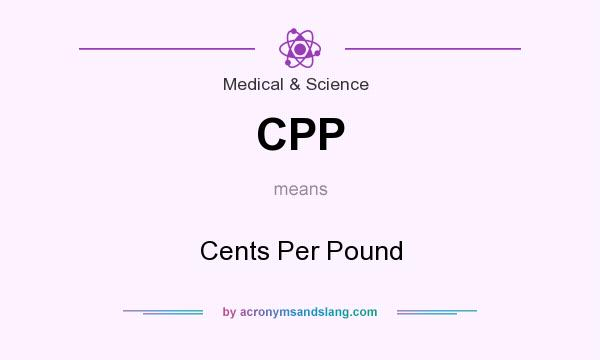 What does CPP mean? It stands for Cents Per Pound