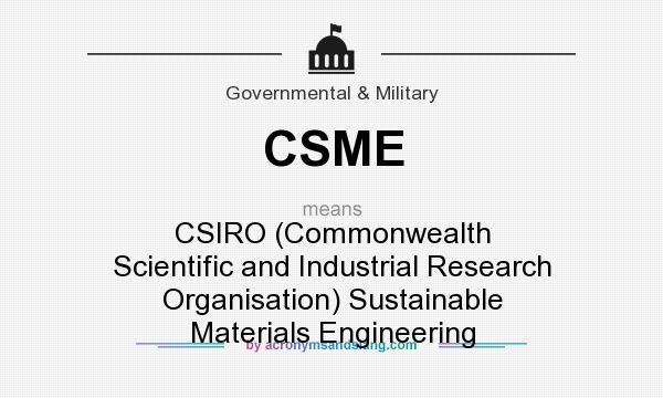 CSME - CSIRO (Commonwealth Scientific and Industrial Research ...