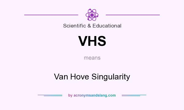 What does VHS mean? It stands for Van Hove Singularity