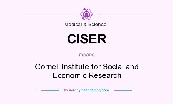 What does CISER mean? It stands for Cornell Institute for Social and Economic Research
