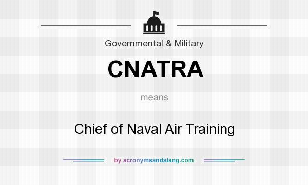 What does CNATRA mean? It stands for Chief of Naval Air Training