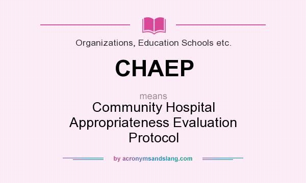 Appropriateness evaluation protocol