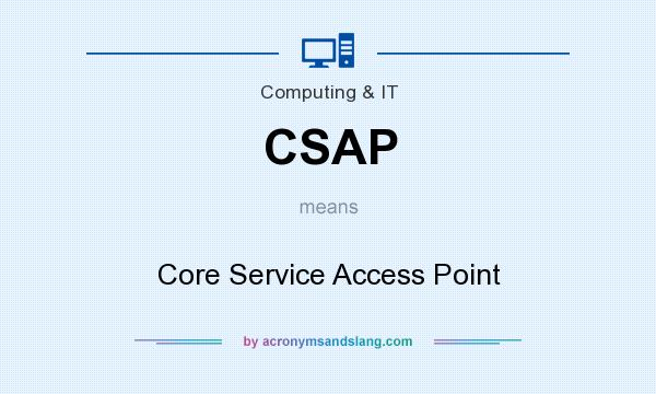 What does CSAP mean? It stands for Core Service Access Point